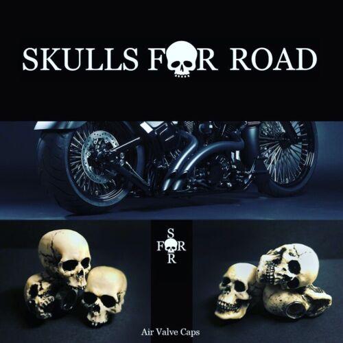 2Pcs Skull Air Valve Stem Caps skullsforroad Ventil Kappe Skull Ventilkappen