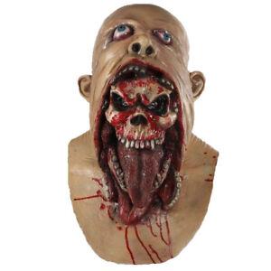 Scary-Bloody-Zombie-Mask-Mascara-Miedo-Sangriento-de-Halloween