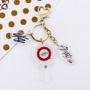 Kpop Stray Kids Lightstick Acrylic Keychain Bag Pendant Charm Keyring