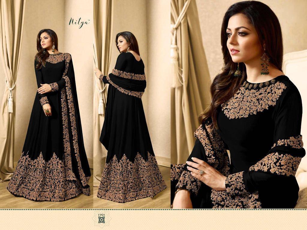 Heavy Indian Pakistani Designer Wedding Party Wear Floor Dress