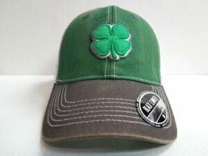 a3544703c North Dakota Hawks Und Black Clover Cap Lucky Mesh Vintage Adjustable Golf  Hat