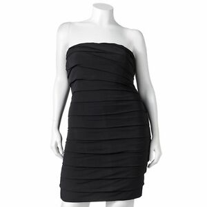 ad086a27c Image is loading Speechless-BLACK-Tiered-Tube-Dress-Juniors-039-Plus-