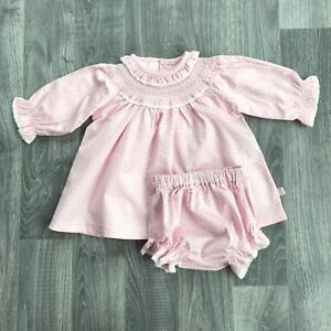 89287a428 Zip Zap Baby Girls Frill Collar Dress and Knicker Set in Pink - 6 ...