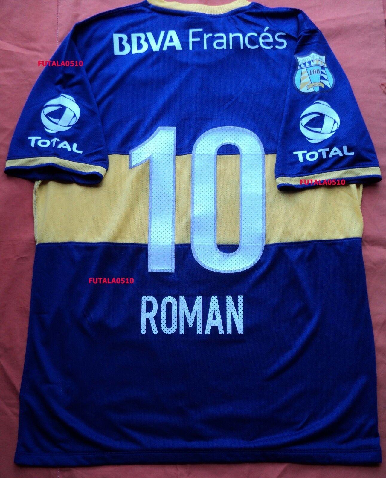 ROman 35; 10 BOCA JUNIORS 2013-14 HOME SHIR PLAYER VERSION afmeting XL