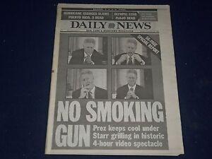 1998 SEPT 22 NEW YORK DAILY NEWS - NO SMOKING GUN BILL CLINTON VIDEO - NP 1713
