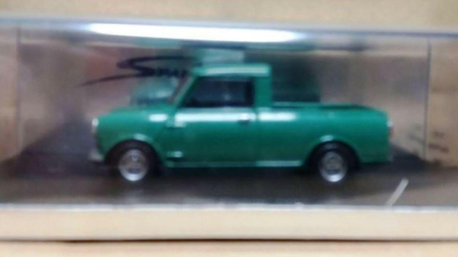 Wow extremadonnate raro Morris Mini Cooper Mk3 850 verde Pickup 1969 Resina 1 43 Spark