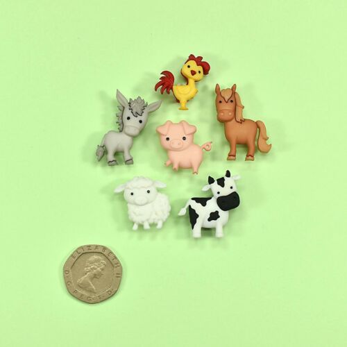 Dress it Up Buttons In The Barnyard 10418 Horse Donkey Chicken Cow Pig Sheep