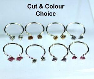 Diplomatisch Silber Cubic Zirkonia Zeh Ringe Farbe & Schliff Auswahl Grade Produkte Nach QualitäT