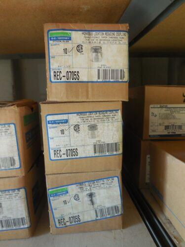 "Box of 10 each REC-0705S OZ-G RDC CPLG STL 3//4/"" TO 1//2/"" O-Z//Gedney"