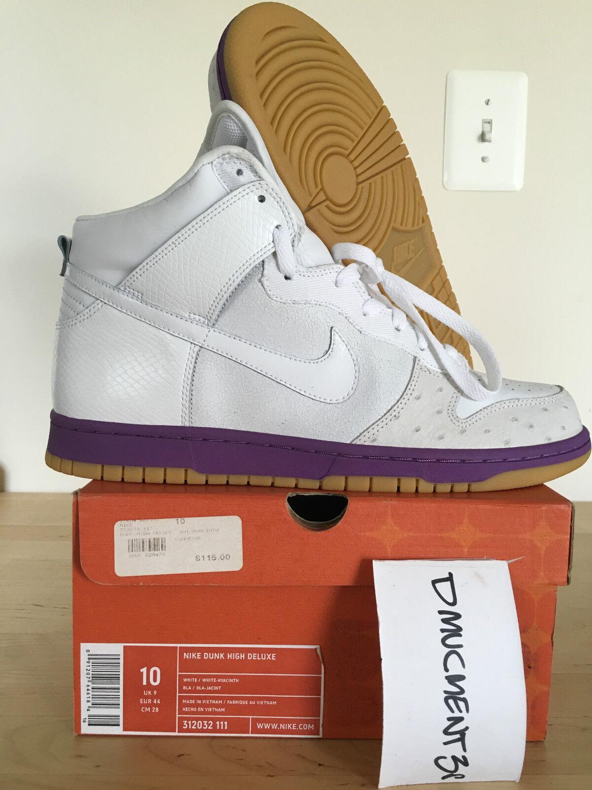 Nike Nike Nike Dunk High Deluxe Hyacinth / Avestruz 10 materialEl último descuento zapatos para hombres y mujeres a5707e