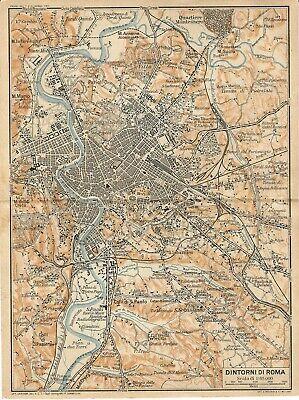 Cartina Geografica Roma E Dintorni.Dintorni Di Roma Tor Di Quinto Appia Antica Carta Geografica Touring Club 1925 Ebay