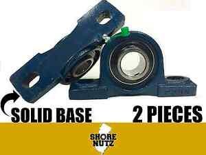 "2PCS UCP206-20 Pillow Block Bearing 1-1//4/"" Bore 2 Bolt Solid Base"