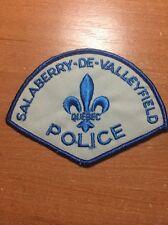 VINTAGE PATCH POLICE CANADA - SALABERRY DE VALLEYFIELD - ( QUEBEC ) - ORIGINAL!