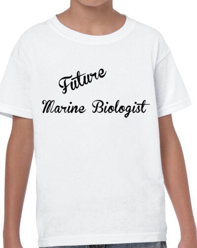 Kids futuro Marine biologo T SHIRT BIANCO COMPLEANNO crescere