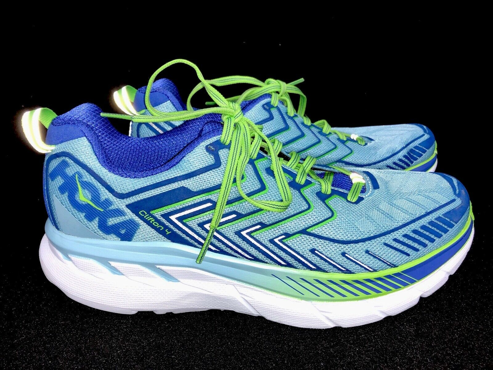 Hoka One One Clifton Clifton Clifton 4 Sky bluee Surf the Web Running shoes Tennis Womens 7.5 8.5 6845c4