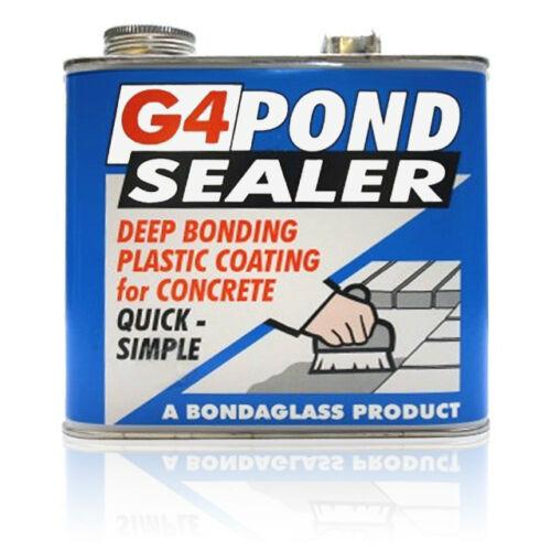Genuine bondaglass bassin G4 béton Mastic 5 kg Clair Peinture sur étang Sealer