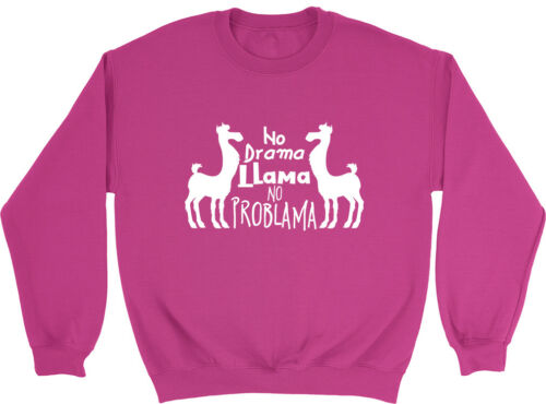 No Drama Llama Girls Boys Kids Childrens Sweatshirt