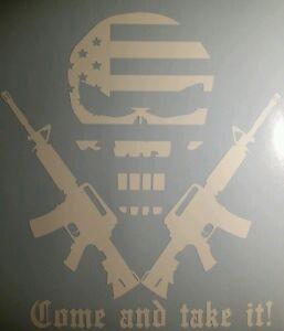 COLT-FIREARMS-VINYL-STICKER-DECAL-Punisher-flag-RIFLE-WEAPON-AR15-2nd-amendment