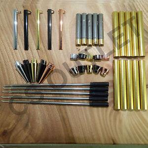 Mixed Finishes Slimline Pen Kits X 5 off Sets -  for woodturning