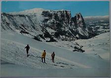 Schöne alte Ansichtskarte AK - Seiser Alm gegen den Schlern Dolomiten