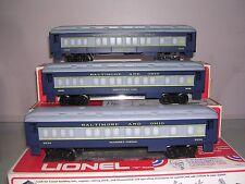 3 Lionel Baltimore & Ohio Passenger Cars<++>6-9516, 9524, 9525<++>OB'S<++>