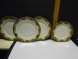 Image is loading 4-PCS-Limoges-UC-Made-in-France-China- & 4 PCS Limoges UC Made in France China Saucers | eBay