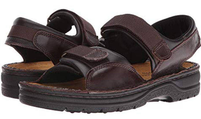 Naot Andes Buffalo leather cinch back comfort sandal hombres Talla 40-48 new