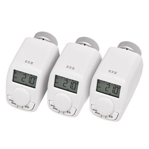 Drei Elektronik-Heizkörperthermostate