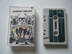 THIN-LIZZY-JAILBREAK-CASSETTE-TAPE-1976-GREEN-PAPER-LABEL-VERTIGO-UK