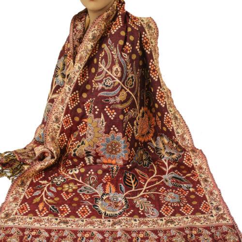 Schal Damenschal warm  Classic Stil Langschal Orient Jamawar 200x70cm Viskose 55