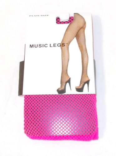 Hot Pink Fishnet Tights Womens Halloween Costume Accessory Plus NIP
