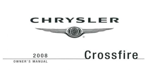 2008 Chrysler Crossfire Owners Manual User Guide