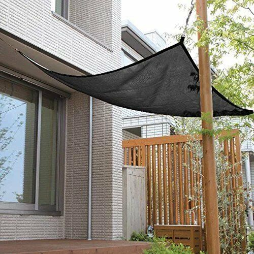 Shatex Pergola Shade Hanging-up Shade Panel Black for Window//RV Awning Patio
