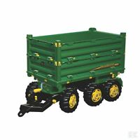 John Deere Childrens Pedal Tractor Rollymultitrailer Trailer 3 Axle Ride On