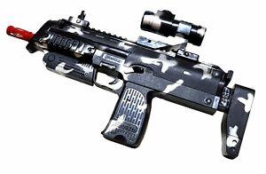 Kinder Spielzeug Gun MP Pistole Gewehr Spielzeuggeweh<wbr/>r Kostüm LED Licht Sound