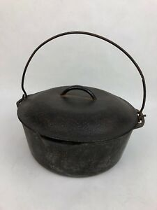 Cast Iron Vintage Renfrow Ware Cast Iron #8 Do Dutch Oven Pot As Found Kitchen & Home