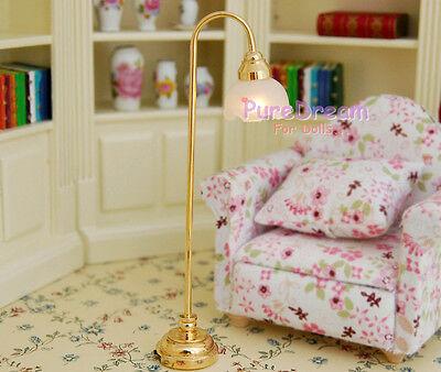 1/12 Dollhouse Miniature Floor Lamp  Battery  Operated LF015E