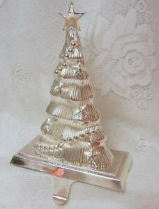 Details About Vintage Silver Plated Christmas Tree Mantel Hook Stocking Holder Hangers Heavy