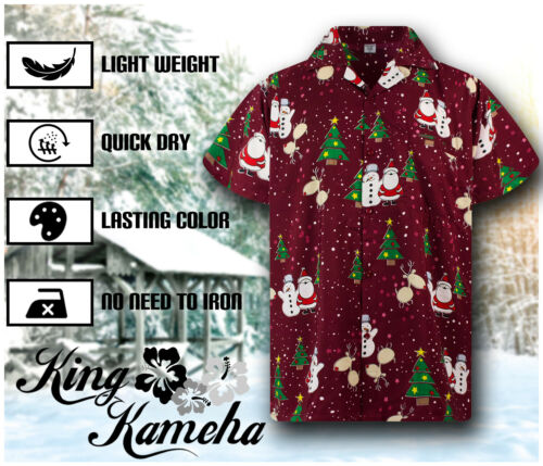 Funky Hawaiihemd Weihnachten Buddys Rot Santa Hawaii