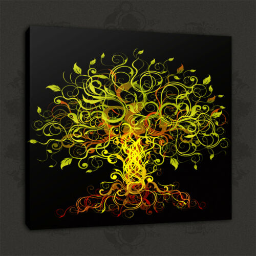 BEAUTIFUL ABSTRACT TREE MODERN DESIGN BOX CANVAS PRINT WALL ART PICTURE