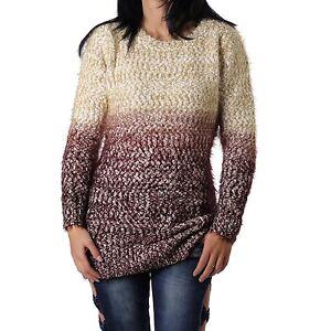 Pullover-Donna-Morbido-pullover-maglione-accogliente-MAGLIA-Sfumatura-di-colore