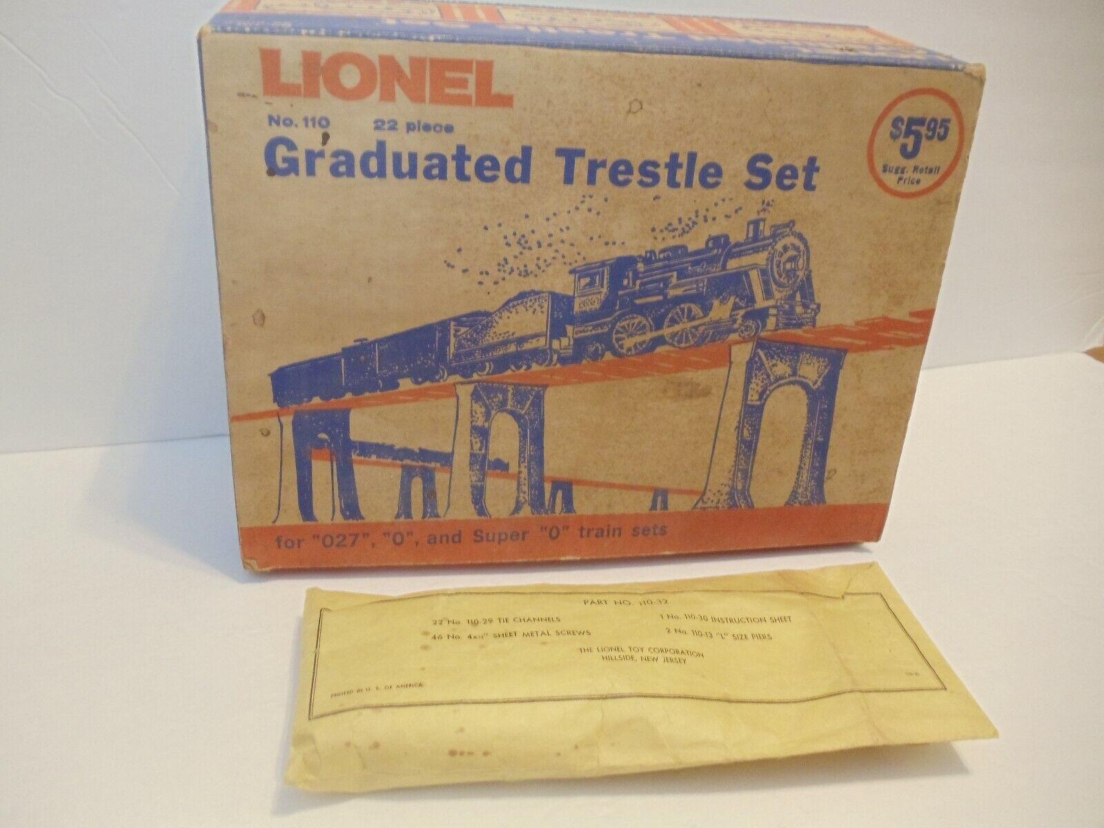 Lionel Postwar 110 Trestle Set ExOB Hillside, NJ 1969