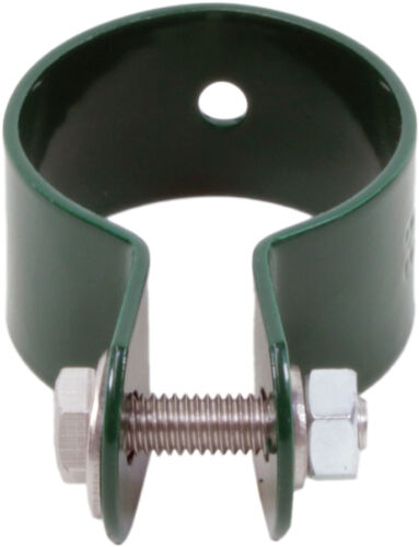 Strebenschelle 34 mm grün Ersatzschelle Pfosten Strebe Kappe Ersatz Draht Zaun