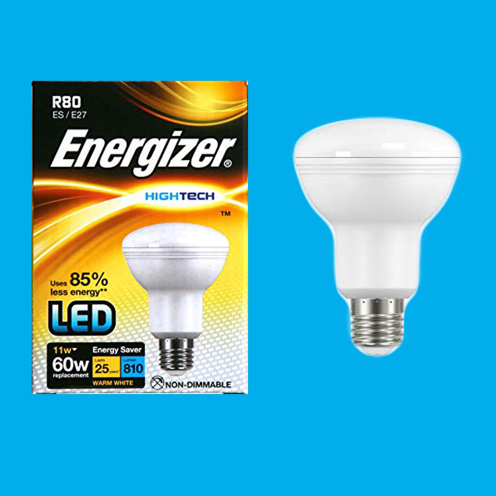 8x 11W R80 810lm LED Ultra Low Energy Reflector Spotlight Bulb ES E27 Light Lamp