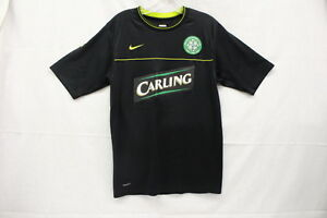 """Ireland NikeFit Dry Black CARLING Jersey """"The Celtic Football Club"""" Size Adult S"""