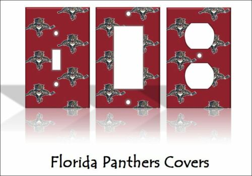 Florida Panthers Light Switch Covers Hockey NHL Home Decor Outlet
