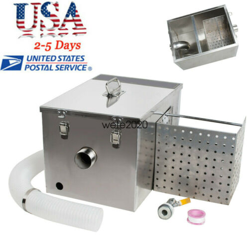 Removable Grease Trap Interceptor Set For Restaurant Kitchen Wastewater Deal USA
