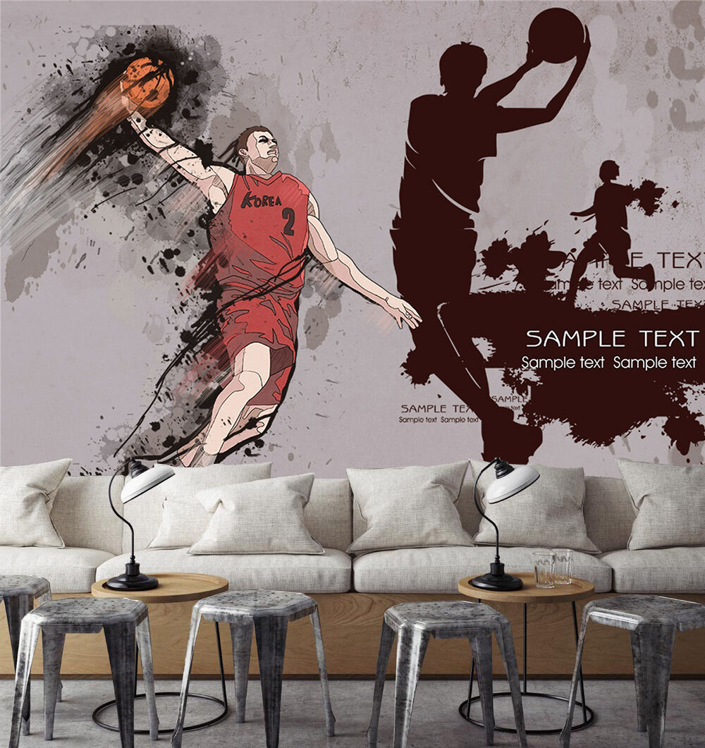 3D Playing Basketball 1740 Paper Wall Print Wall Decal Wall Deco Indoor Murals