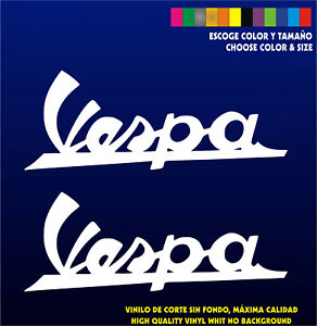 Stickers-Vinilo-Pegatinas-Vespa-Logo-Vinyl-Adhesivi-Aufkleber-Scoot