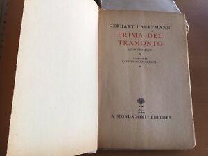HAUPTMANN-Prima-del-tramonto-Quattro-atti-Gerhart-Hauptmann-1933